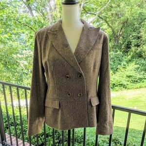 Talbots herringbone Tweed brown blazer